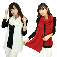 2014 spring winter faux cape solid color muffler scarf autumn and winter thermal yarn knitted scarf