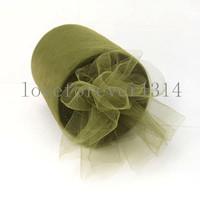 "6""x100 yard Sage Green Tulle Roll Spool  Tutu DIY Craft"