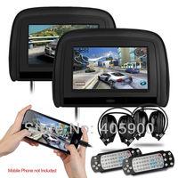 HDMI Port 9 inch HD Car Headrest dvd player for Benz BMW Audi Lexus VW Toyota Ford Honda Buick Nissan Hyundai Pegueot KIA etc