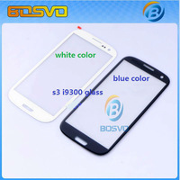 For Samsung galaxy s3 i9300 lcd touch screen outer glass lens replacement 10 pcs a lot free shipping +sticker+tools