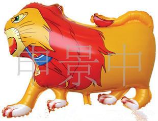 Hot sale grátis frete 50 pçs/lote rei leão balão de alumínio Anagram balão balões folha leão amarelo para festa do bebê do menino(China (Mainland))