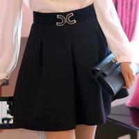 2014 spring women's ol skirt step pleated skirt short skirt bust skirt  Free Belt
