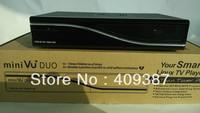 2pcs/lot satellite receiver DVB-S2 mini vu duo support original vu+ software in stock, linux twin tuner decoder
