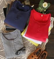 Blouse long-sleeve slim T-shirt 100% thickening cotton thermal underwear long johns basic shirt KC228
