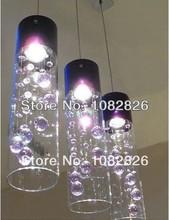 New Modern bubble 3 lights Glass Purple Crystal bar kitchen dinning room Lighting Pendant Lamp light(China (Mainland))