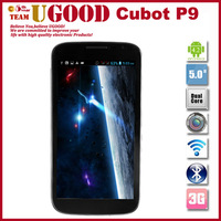 New Arrival Cubot P9 MTK6572 Dual Core 1.2GHz Android Mobile Phone 5.0 Inch QHD Screen 512MB RAM 4GB ROM 8.0MP Camera WCDMA 3G