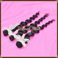 Free shipping Loose Wavy Natural Color PeruvianVirgin Hair Extension 5A Quality 8-30 inches Human Hair
