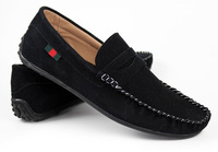 free shipping new 2013 genuine leather men loafers shoes mens flat shoes casual moccasins brand espadrilles alpargata moccasins
