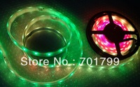 5m DC12V INK1003 led pixel srip,IP68,30pcs 1002led(5050 RGB bulit-in INK1003 IC)/M;WHITE PCB;with 2m long 4core male conector