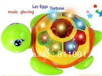 Hot sale!!amusing  tortoise  glowing  toys  can lay eggs and sing while running,  play things for kids etc
