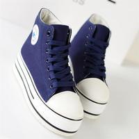 2014 single shoes platform shoes canvas shoes female shoes sport shoes high canvas shoes female