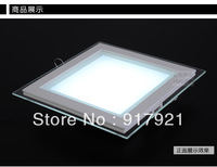 2014 newstyle SMD5730 110V-260V Large led panel lights 6w high quality downlight square living room lights glass lamp-4PCS/LOT