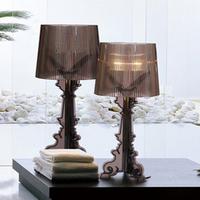 Modern Fashion White Black Red Gray Blue Orange Acrylic Table Lamp Bedroom Desk Lamp Dia 24cm