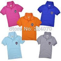 Retails 100% Cotton Children Kids Boys Tops T Shirt Top Quality Children Baby Short Sleeved T Shirt Free Shipping