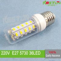 4X 36 SMD 5730 E27 led corn bulb lamp, Warm white /white led lighting led corn lighting lamps ,free shipping