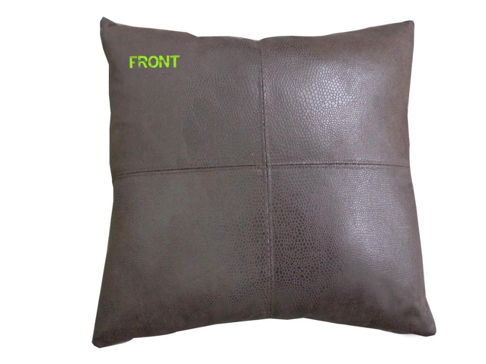 Faux Leather Sofa Cushion Covers