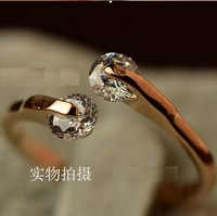 Fashion & Engagement Zircon Open Ring , Rose Gold , Female . Minimum Order $10 before Free Shipping . (Can Mix Order)