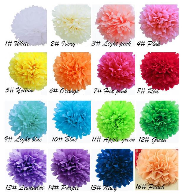 Spedizione gratuita 100 pezzi 20cm(8 pollici) fazzoletto di carta pon pon negozio di arredamento fiore di carta artigianale per la decorazione di nozze