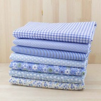 50x50cm light blue 7pcs patchwork quilting cotton fabric home textile for sewing cloth New and lowest price