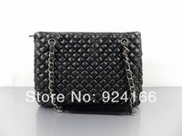 2014 Brand C Line Plaid Silver Chain One Shoulder Bag Genuine Leather Handbag Luxury Bubble Bag