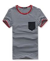2014 New Men'sTop Brand Pocket T shirts Mens Casual Stylish Short Sleeve Cotton T-Shirts