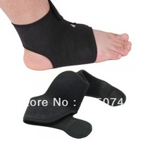 Black Sport Basketball Ankle Foot Elastic Brace Support Wrap Neoprene Adjustable