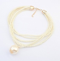 Min.order is $15(mix order) Europe temperament all-match multilayer Pearl Necklace Wholesale Jewelry