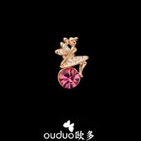 2014 Broches Cachecol Hijab Free Ship Ouduo Mini Girl Brooch Rhinestone Small Fashion Shirt Collar Clip Corsage Jewelry Gift