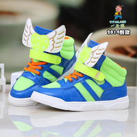 Kid wing shoes 2014 new design butterfly wings fashion casual shoes,free shipping shopping festival girl and boy sneakers