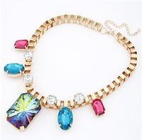 New 2014 Vintage Luxury Chunky Choker Statement Necklace Fashion Jewelry Gift Hot Selling Items CJ0028