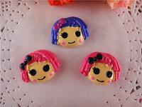 2014 new kawaii cartoon lalaloopsy resins flatback for hair bows hairbows flat back resins home decoration 10pcs/lot  WQ14022725