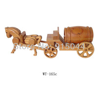 Handmade wood DIY wooden crafts for home wooden crafts decoration horse Cask carriage distributes wood crafts, arts , toys gifts