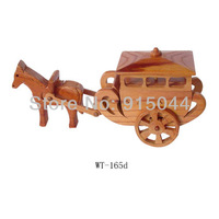 Handmade wood DIY wooden crafts for home wooden crafts decoration car horse carriage distributes wood crafts, arts , toys gifts