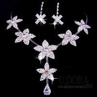 Big Crystal Women Bridal Wedding Jewelry Set 2014 New Jewelry Sets
