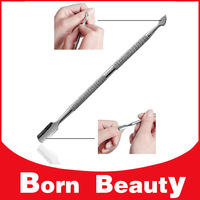 [ Free Shipping ] 5pcs Professional Stainless Steel Nail Cuticle Pusher Spoon Cut Manicure Pedicure Remover,Nail Cleaner