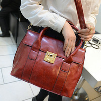 2014 Big Leather Handbag Female Women Shoulder bag Fashion Vintage Motorcycle Messenger Bags