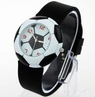 Casual sports rubber football male women's unisex quartz sports watch table watch