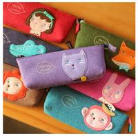 Romane hellogeeks animal tapirs plush pencil case cat guaiguai stationery bags
