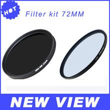 2014 Camera & Photo!New Brand 72mm UV Ultra-Violet Fiter KIT +72mm ND2-400 Neutral Density  Filter For Canon Nikon Camera Lens