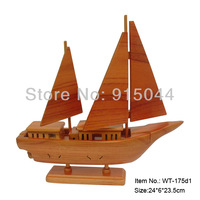 Handmade wood DIY wood crafts for home wood crafts decoration sail boat warship distributes wood crafts,arts and toys gifts