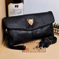 2014 punk oil painting clutch rivet day clutch bag envelope bag shoulder bag cross-body women's handbag Free Shipping