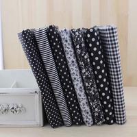 2014 new 7 pieces 50x50cm black cotton patchwork fabric set fat quaters tilda cloth for sewing diy materail JY02