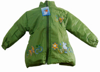 Hot new 2014 Butterfly strawberry female child thermal overcoat 9149 clip cotton-padded coat children's clothing winter