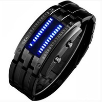 free shippingShipping time America tungsten steel color creative fashion led watch men watch men and women couple retro digital