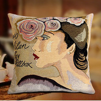 2014 Fashion designers cushion cover 45x45 cm decorating pillow case high quality Knitting both sides pattern