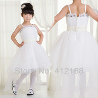 Trailing Design Long Flower Girl Dresses For Weddings&Party Kids Fantasy Prom Princess Pageant Children's Communion evening 9001