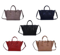 New  New arrival Women's Glace Calfskin Leather Tote Bag   LEATHER SHOULDER BAG