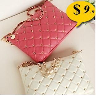 2014 Fashion women bag rivet chain vintage envelope messenger bag women's day clutch handbag(China (Mainland))