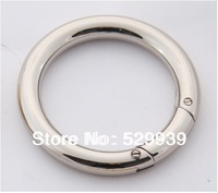 """20pcs/lot bags' accessories open circles 8mm line 61mm(1 3/4"""" inside)  die-casting zinc alloy spring ring o"""