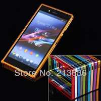 Ultra-thin Case 0.7mm Slim aluminum Bumper Metal Frame For SONY Xperia Z1 L39h  Free shipping